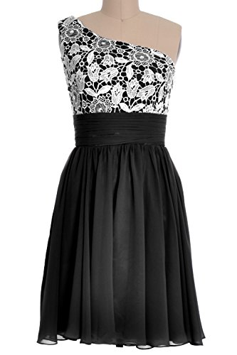 Schwarz One MACloth Short Gown Homecoming Women's Shoulder Formal Prom Lace Dress Party PHfxHZq