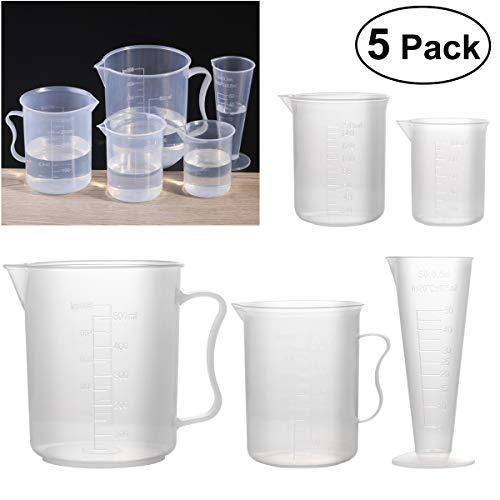 (Measuring Cups & Jugs - 5pcs 50ml 100ml 150ml 250ml 500ml Measuring Cup Labs Plastic Graduated Beakers Transparent - Tea Beaker 10ml Cup Measuring Plastic Plastic Porcelain Cylinder Measur)