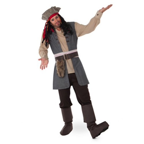 Disney Store Captain Jack Sparrow Costume for Adults Pirates of the Caribbean (Captain Jack Sparrow Costume Authentic)