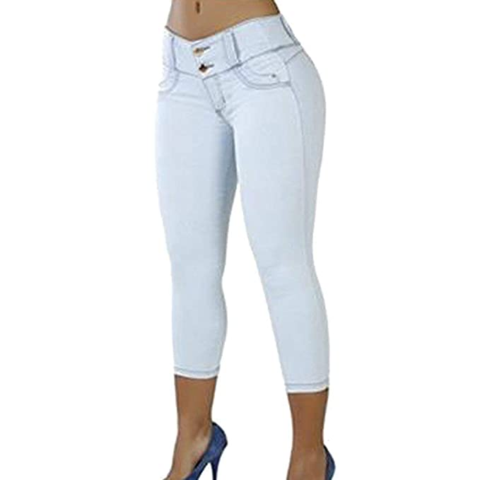 Pantalones De Mujer Pantalones Pitillo De Cintura para Mujer ...