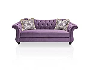 furniture of america ivorah glamorous sofa purple - Purple Furniture