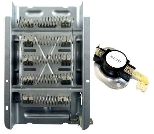 Appizz) New Maytag Dryer Heating Element & Hi Limit Thermostat Kit (1 Set)