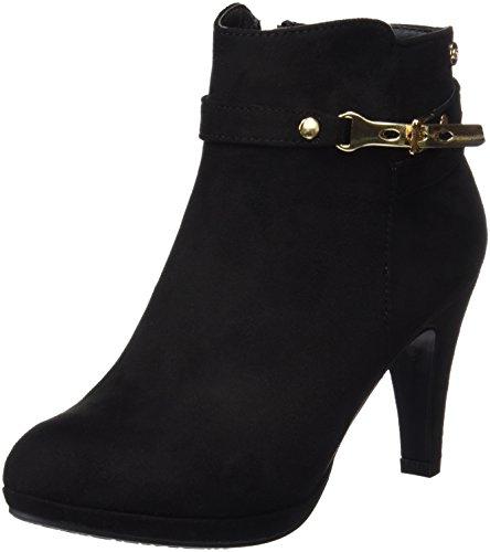 Xti Botin Sra. Antelina 46013, Zapatos De Tacón, Mujer Negro (Negro)
