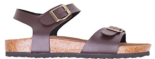 Pictures of Women's Flat Cork Sandals with Adjustable 3