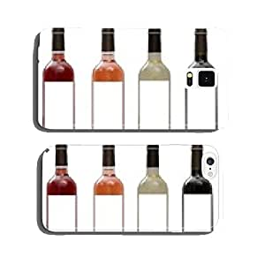 White, rose, and red wine bottles set isolated cell phone cover case Samsung S6