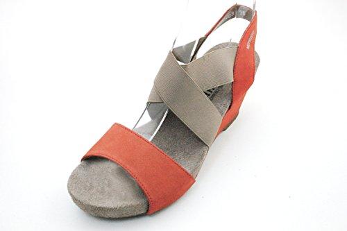 Mephisto - Sandalias de vestir para mujer Rojo