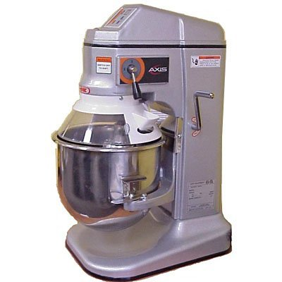 Axis Equipment AX-M12 Commercial Planetary Mixer, Aluminum Alloy Body, Stainless Steel Bowl, 12 qt. Capacity, 24-51/64'' Height x 13'' Width x 19-19/32'' Depth