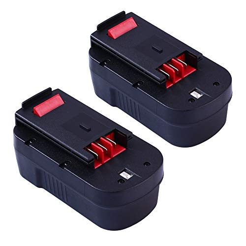 [2 Pack] HPB18 Replace for Black and Decker 18V Battery HPB18-OPE 244760-00 A1718 A18 A18E FSB18 FS18FL FEB180S A18NH FS18FL FS180BX FS18BX NST2118 Firestorm Cordless Power Tools