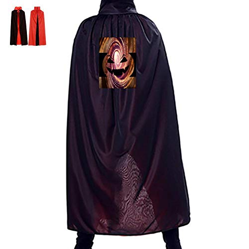 Pumpkin Smiley Face Lamp Double Hooded Robes Cloak Knight Cosplay Costume 29.5(in) ()