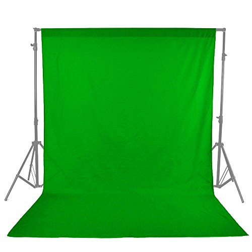 UTEBIT Photo Booth Backdrop 1.8x2.8M / 6x9 Feet 0.8 kg Weight Thicken Backdrop 100% Cotton Chromakey Green Screen Foldable Photography Green Backdrops for Television and Video