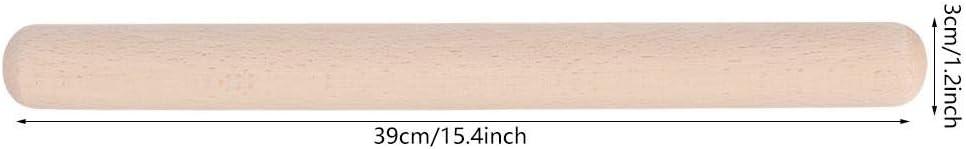 Rouleau /à p/âtisserie 29cm rouleau /à p/âtisserie en bois de h/être massif Outil de cuisson de b/âton de nouilles press/é pour boulettes Pizza Cookies P/âtisserie