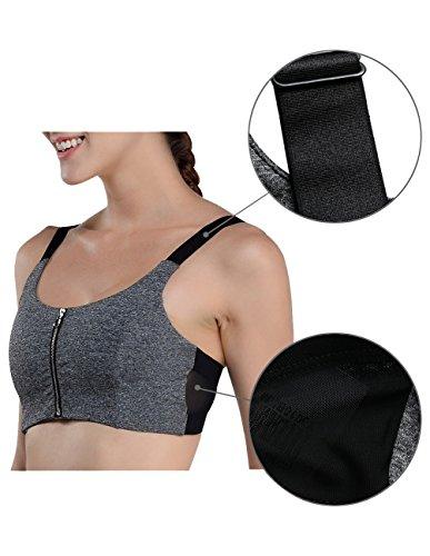 Damen Sport-BH, Disbest Yoga BH starker Halt BH Reißverschluss Bustier ohne Bügel