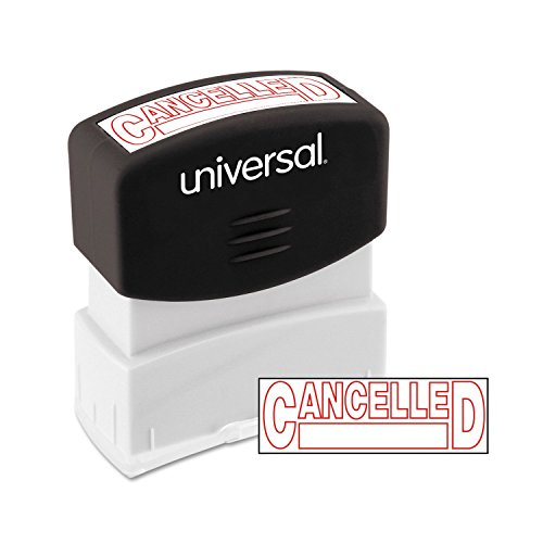 Universal 10045 Message Stamp, CANCELLED, Pre-Inked One-Color, Red -