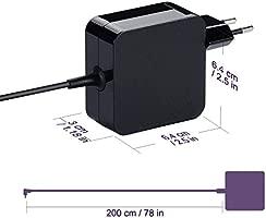 Purpleleaf Adaptador de CA Silm Portátil Cargador Portátil para ...