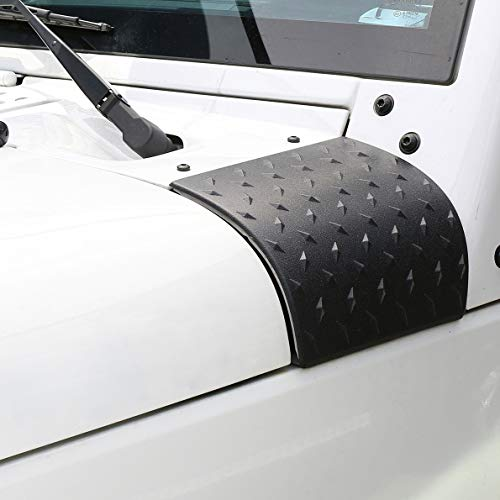 Hooke Road Cowl Body Armor Outer Cowling Cover Corner Guards for 2007-2018 Jeep Wrangler JK JKU Unlimited Rubicon Sahara Sport Exterior Accessories