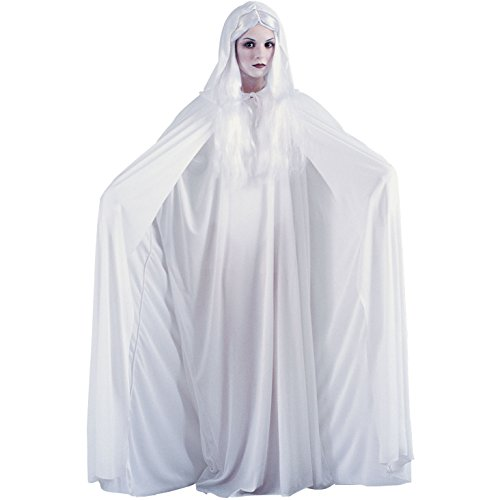 White Hooded Cape -