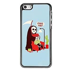 ZCL-Patrón del Ojo de Scary Ghost Cubierta Hombre aluminoso duro caso para iPhone 5C