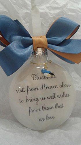 (Bluebirds visit from Heaven Memorial Keepsake Sympathy Gift)
