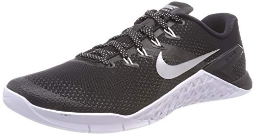 Nike Women's Metcon 4 Training Shoe Black/Metallic Silver-White-Volt Glow -