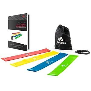Premium Latex Fitnessbänder - 4er Set Fitnessbänder / Trainingsbänder /...