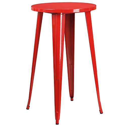 "Flash Furniture 24"" Round Red Metal"