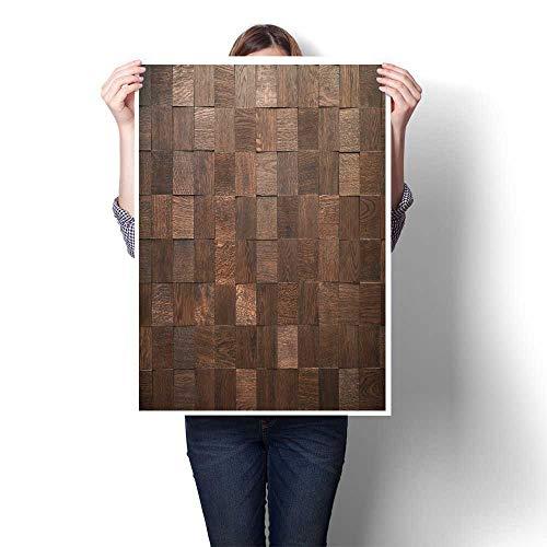 lona para pared de bloques de madera decorativos, fondo de panel decorativo, estructura natural fina, aceites húmedos, obras...