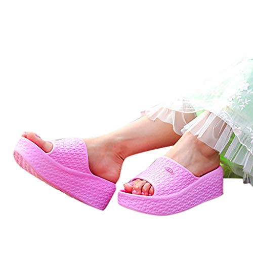 51cb0bdff600e Women Platform Slide Sandals, Girl Fashion Summer Small Fresh Slip-On  Slipper Ladies Comfy Thick Soles Flip-Flops