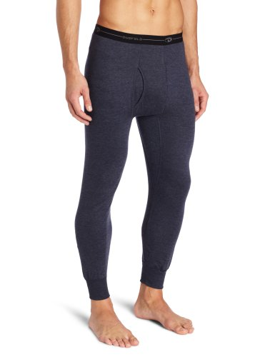 (Duofold Men's Mid Weight Wicking Thermal Pant, Navy, Medium)