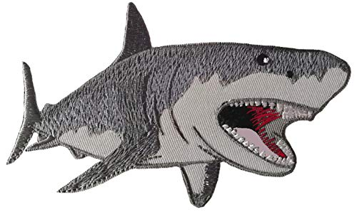 - Meg Megaladon Shark Embroidered Patch Ocean Sea World Wildlife Series Iron-on or Sew-on Badge DIY Appliques Application Patches