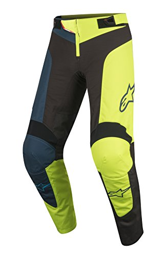 Alpinestars Vector Pants, Black Acid Yellow, 32
