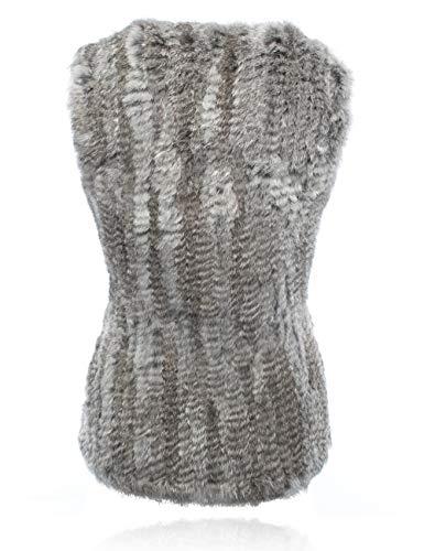 Maglia 100 Pelliccia Della Vest Del Coniglio Naturale Heizzi Grey dXxRwqSnRz