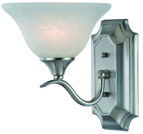 Hardware House H10-4517 Dover Single Bath Light or Wall Fixture, Satin Nickel ()