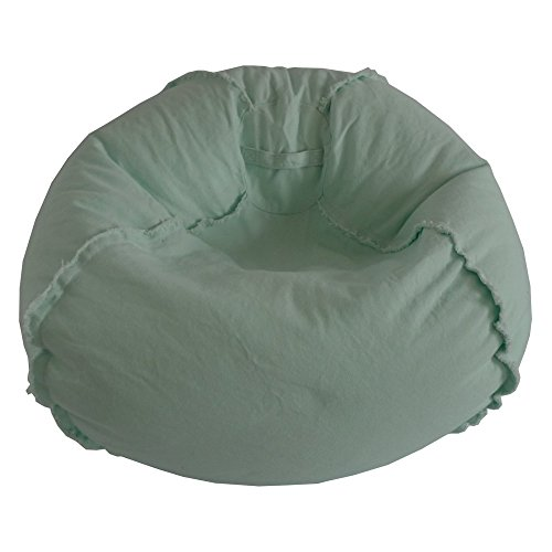 Ace Casual Furniture Large Canvas Bean Bag Chair with Exposed Seams (Bayou Bag Bean Large)