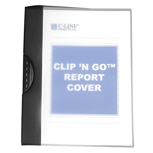 C-Line Clip 'N Go Swing Clip Report Cover, 30-Sheet Capacity for 8.5 x 11-Inch Inserts, 1 Report Cover, Frosted, Color May Vary (99326)