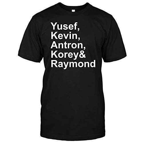 Central Park 5 Yusef Kevin Antron Korey Raymond-Santana T Shirt Hoodie for Men for Women (Unisex T-Shirt;Black;M) -