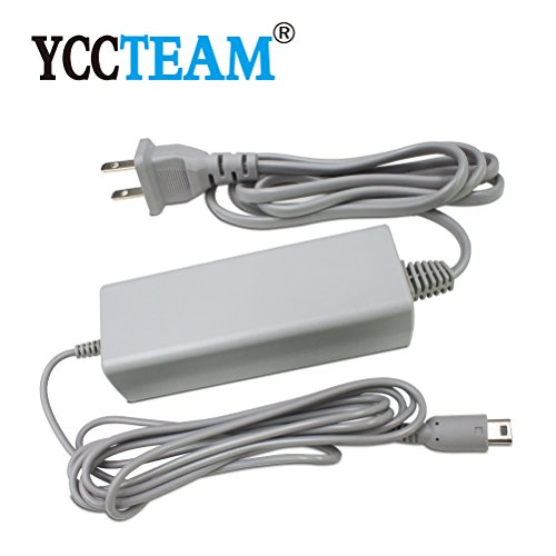 WII U Power Cord, YCCTEAM® New Interchangeable Power Supply Charging AC Adapter Charger & Cable Cord for Nintendo Wii U (Interchangeable Power Supply)