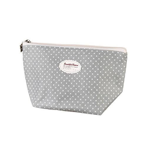 Creazy Portable Travel Cosmetic Bag Makeup Case Pouch Toiletry Wash Organizer (grey)
