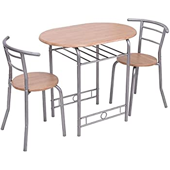 Amazoncom Giantex 3 PCS Bistro Dining Set Table and 2 Chairs