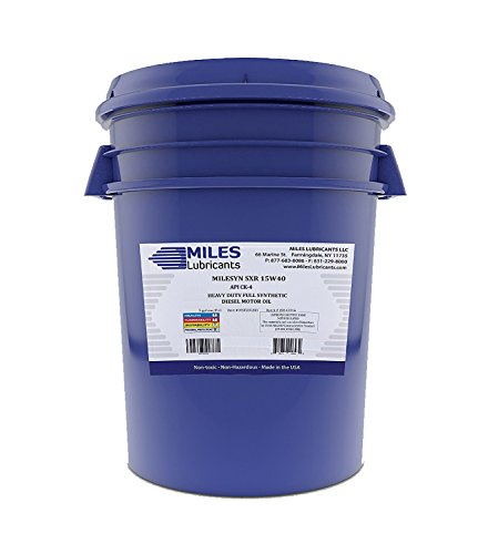 Milesyn SXR 15W40 API CK-4 Full Synthetic Diesel Motor Oil 5 Gallon Pail