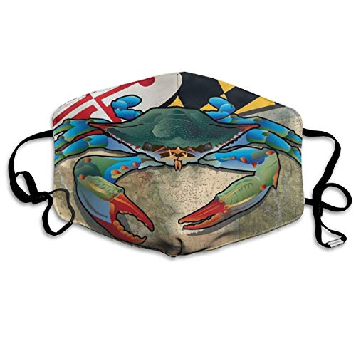 Funny Blue Crab of Maryland Anti Dust Face Mask,Reusable Warm Windproof Mouth ()