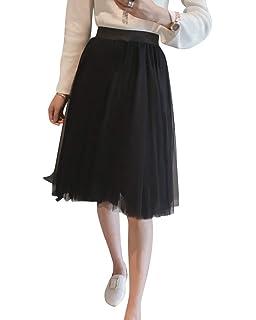 b1421d764e Women's Long Skirt Comfort and Leisure Noble Comfortable Elegant Mesh Yarn Pleated  Skirt