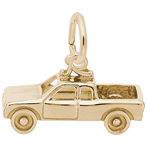 Rembrandt Charms Pick Up Truck Charm, Gold Plated - Charm Plated Gold Truck