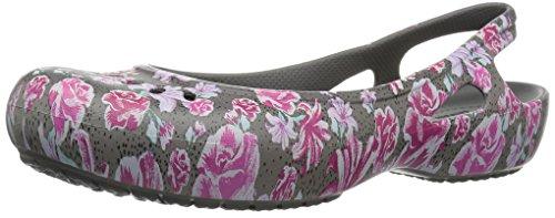 Crocs Women's Kadee Graphic Slingback W Ballet Flat, Multi Floral/Slate Grey, 10 M US