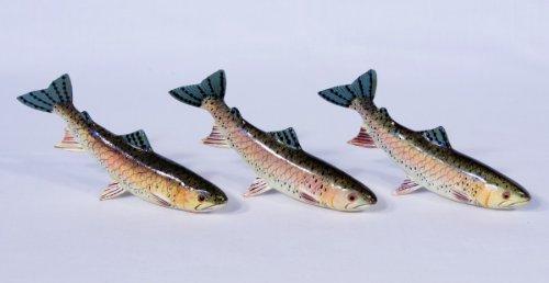 Handpainted Salmon Statue Game Fish Replica 5