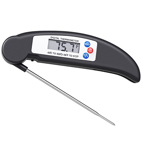 Best Price! Lighting Mall Food Thermometer, Instant Read Digital Meat Thermometer with Probe for Kit...
