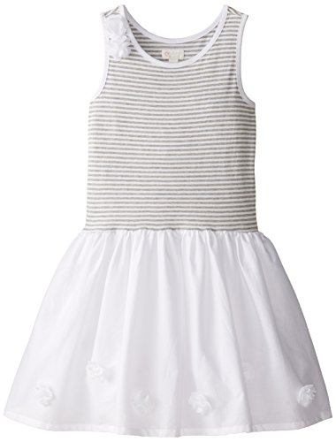 The Children's Place Big Girls' Flower Dress, White, Large/10/12