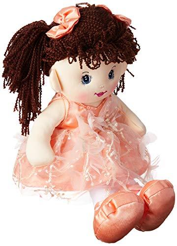 Foffylandia, Boneca Bailarina com Cabelo Amarrado Dois Lados,  Marrom Escuro