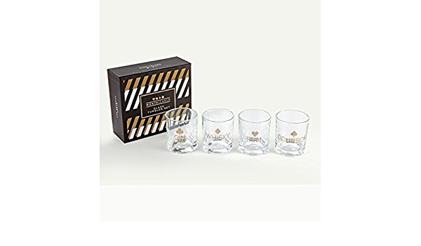 Monte Carlo Casino - Juego de vasos de whisky y ron Bourbon ...