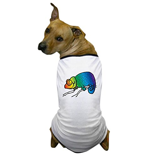 CafePress - Cool Rainbow Chameleon Dog T-Shirt - Dog T-Shirt, Pet Clothing, Funny Dog Costume - Chameleon Pet Costume