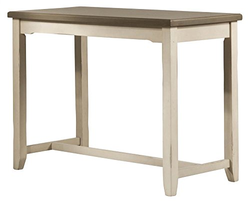 Hillsdale Furniture 4542-880 Hillsdale Clarion Side, Distressed Gray Sea White Counter Height Table